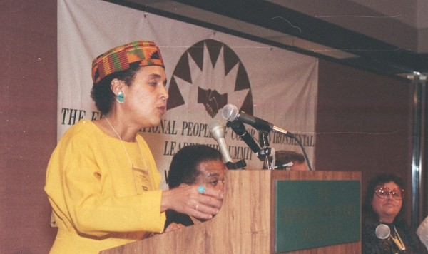 Dana Alston speaking at the First National People of Color Environmental Leadership Summit held in Washington, DC - 1991