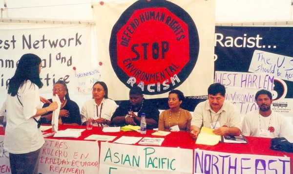 Environmental Justice Leaders Hold Press Briefing at the World Conference Against Racism in Durban, South Africa, 2001