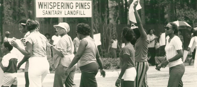 Northeast Houston Residents hold protest at Whispering Pines Landfill 1979