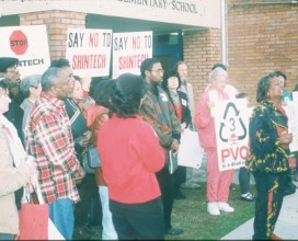 Bullard and EJ support of Mrs West Convent residents against Shintech 1998