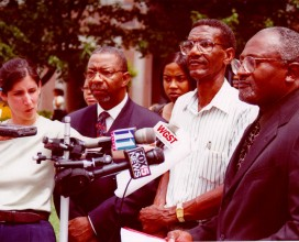 Press conference at MARTA Opposing Fare Hike in Atlanta 2005