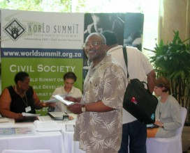 WSSD side event, Jojannesburg, South Africa 2002