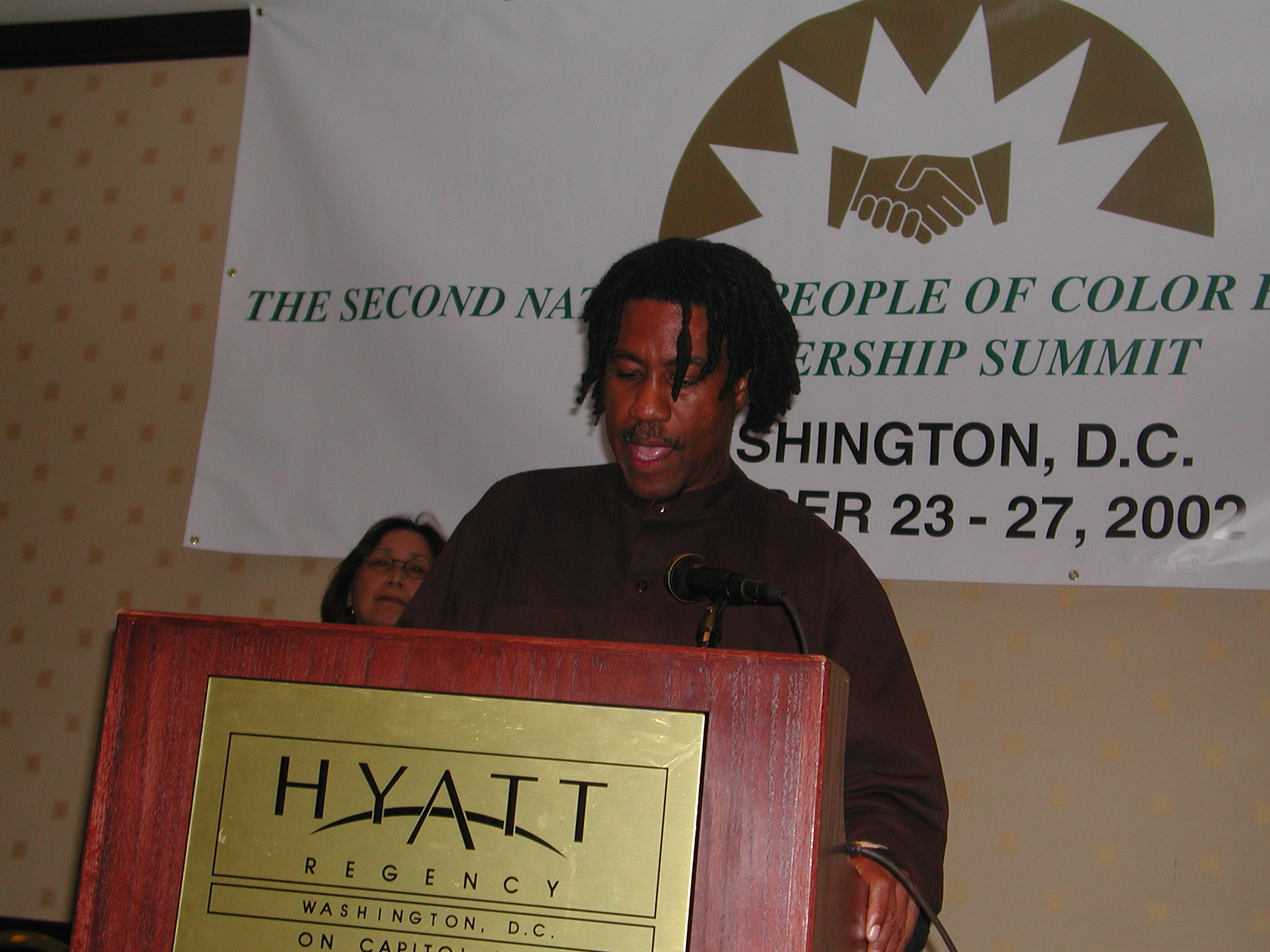 Damu Smith speaking at Environmental Justice Summit - 2002