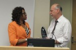 Dr. Beverly Wright presents Damu Smith Award to Professor Paul Mohai April 2014