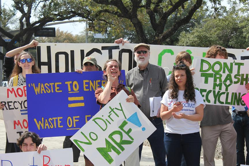 Houston Recycle Rally at Houston City Hall 2014
