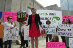 Zero Waste Houston Protest Against One Bin for All_ 2014